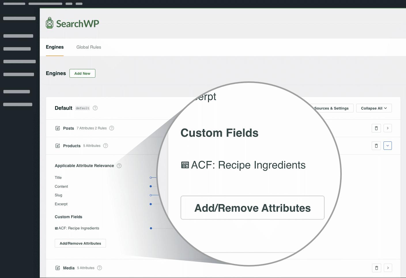 Custom Fields screenshot