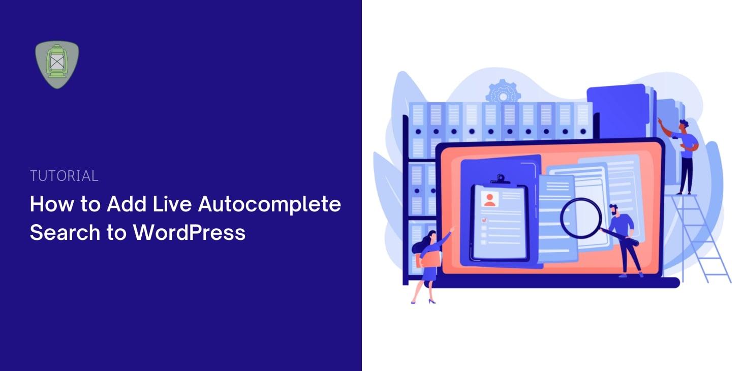 Add WordPress Live Autocomplete Search