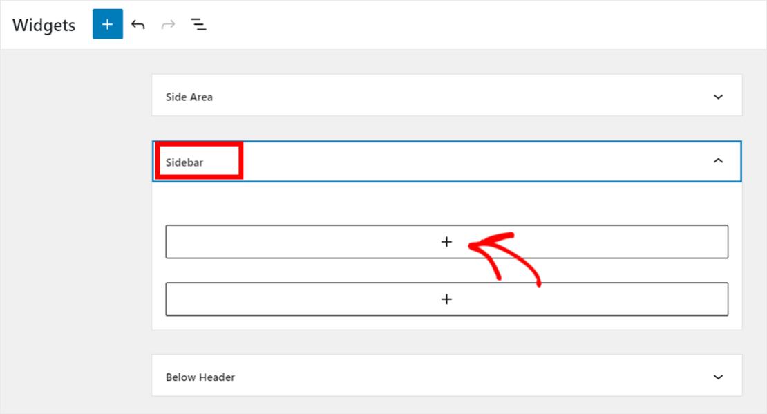 Add WordPress sidebar widget
