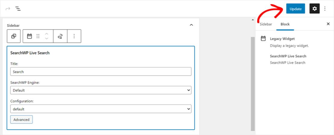 Add autocomplete search bar to widget sidebar