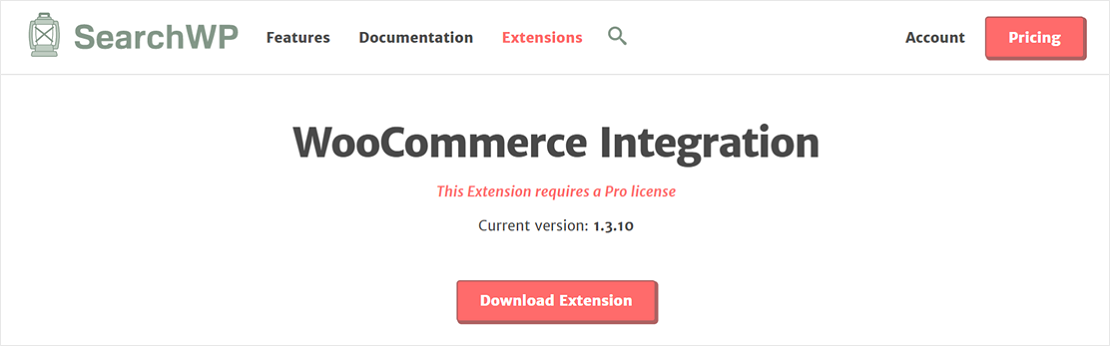 Download SearchWP WooCommerce extension