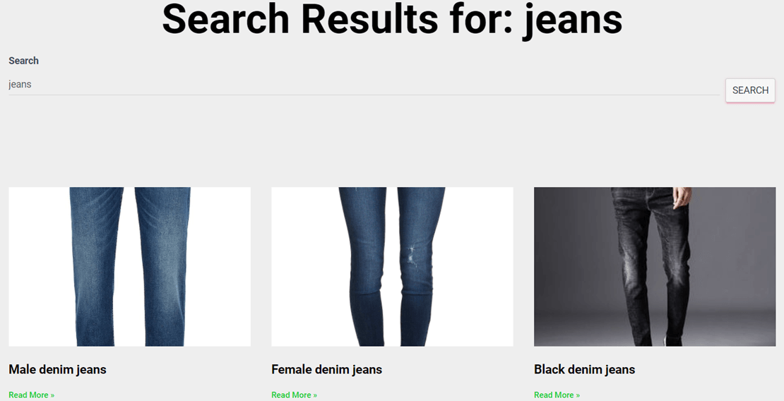 WooCommerce search results after restricting product search to product title only (1)