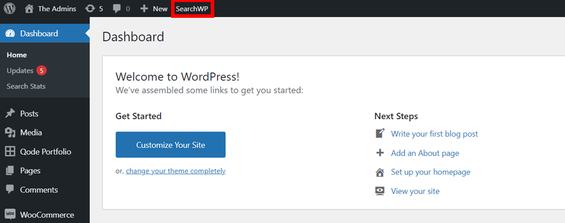 go to SearchWP settings