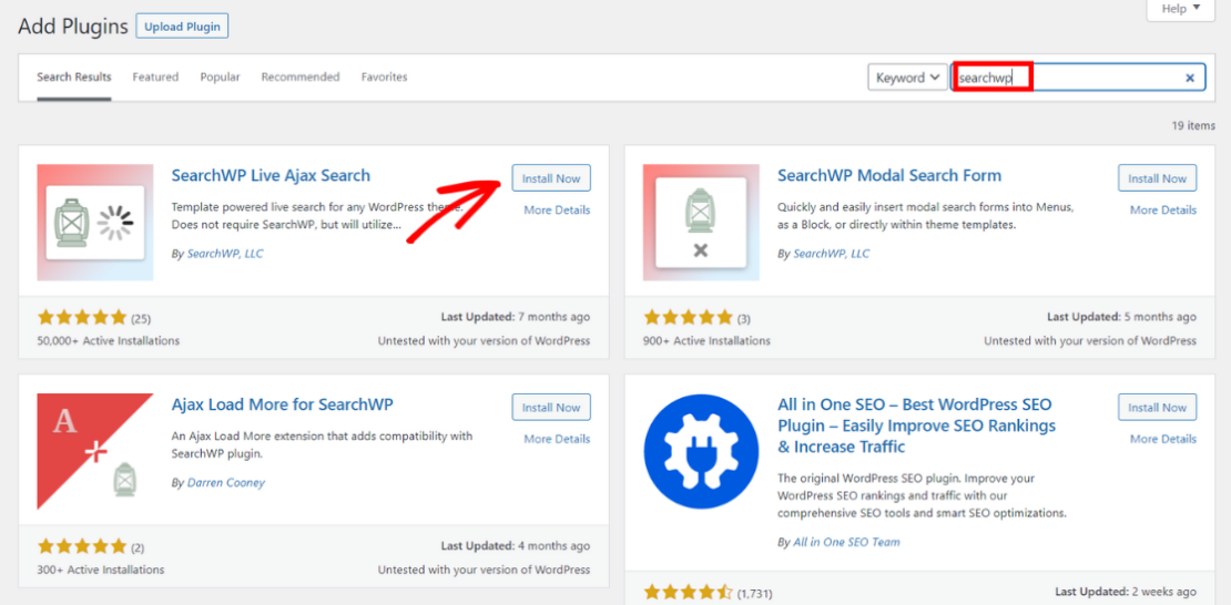 install searchwp live ajax search