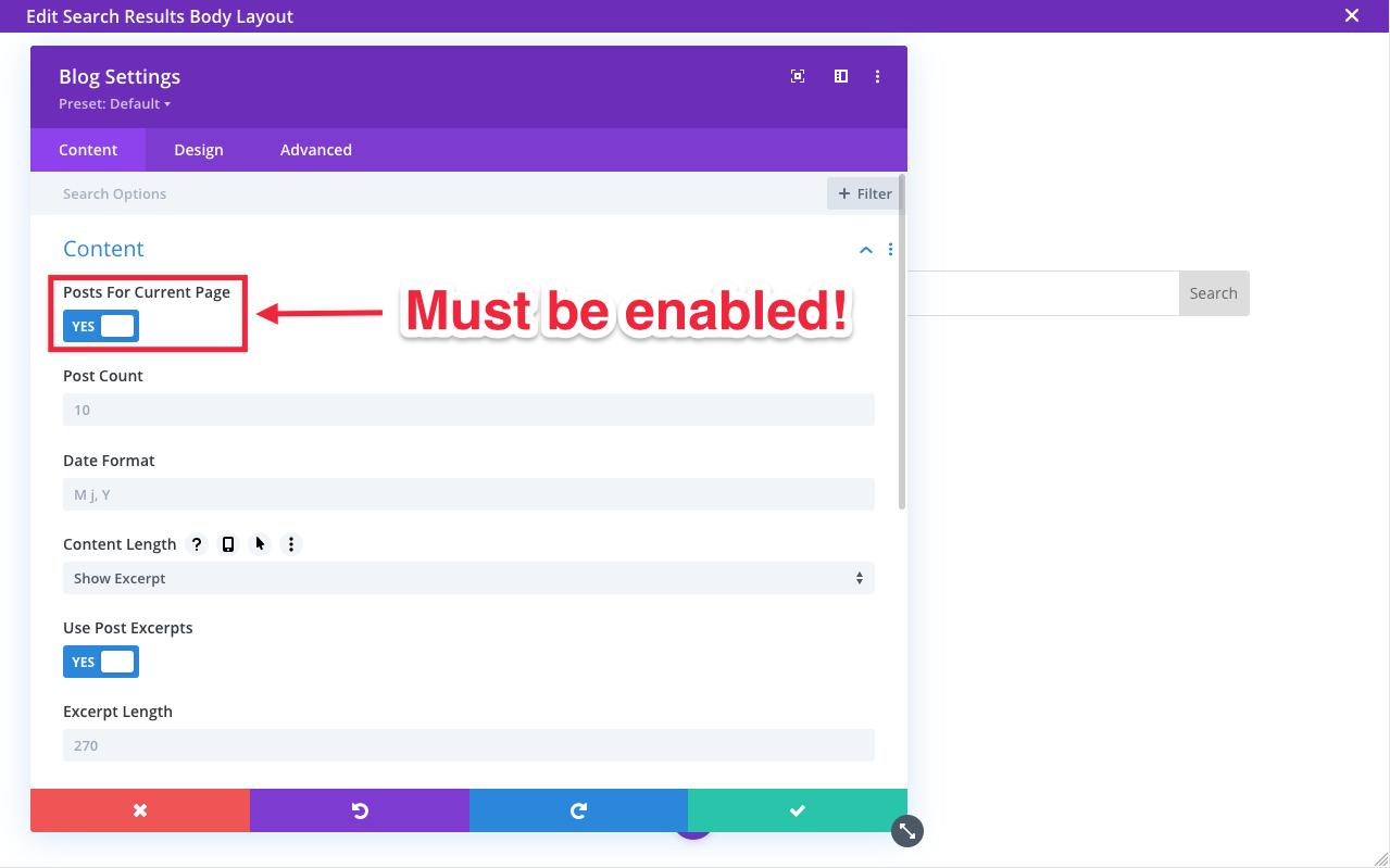 Divi Blog Module screenshot
