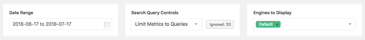 Screenshot of the controls for Metrics