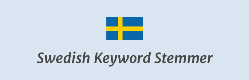Swedish Keyword Stemmer